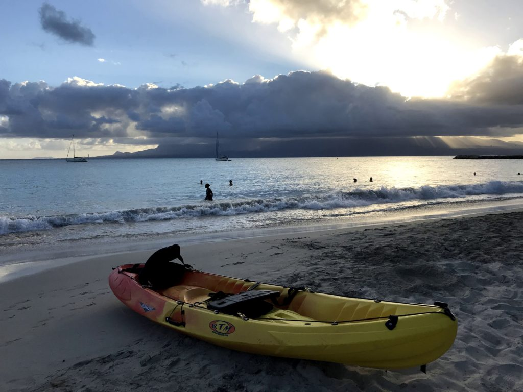 plage datcha gosier guadeloupe location kayak