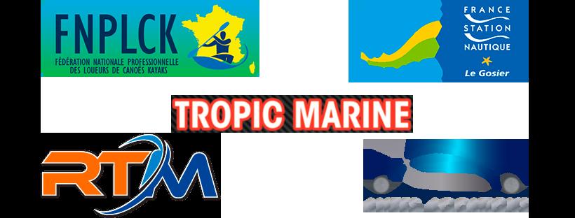 partenaires de kaya'kool centre de location de kayak et paddle en guadeloupe : la ville de gosier, RTM, FNPLCK, tropic marine, Alizes location